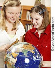 escola secundária, geografia