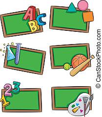 escola sujeita, ícones