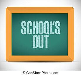 escolas, quadro-negro, desenho, ilustração, saída