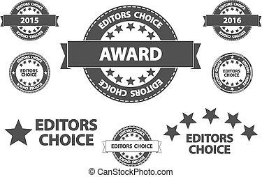 escolha, qualidade, editors, ícones