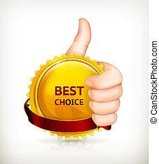 escolha, vetorial, melhor