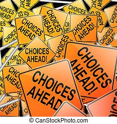 escolhas, concept.