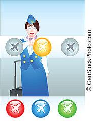 escolher, a, direita, avião