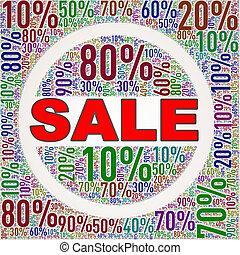 escompte, wordcloud, vente étiquette, spécial
