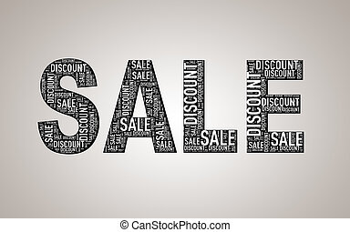 escompte, wordcloud, vente, spécial