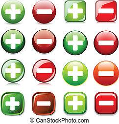 esconder, mostrar, cor, botões, adicionar, vetorial, ou, ...