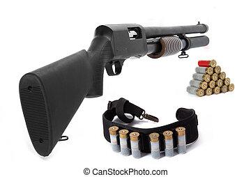 escopeta, munición