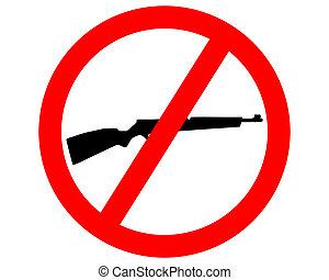 escopeta, prohibido