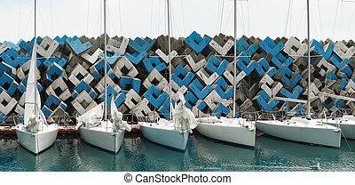 escorado, barcos, velejando, regata