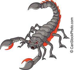 escorpião, caricatura
