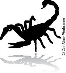escorpião, pretas