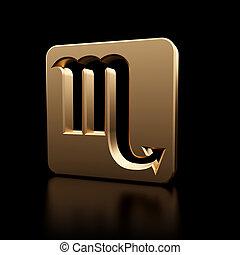 escorpião, símbolo zodíaco, ícone