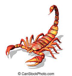escorpión, rojo