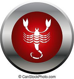 escorpión, zodíaco, escorpión, señal