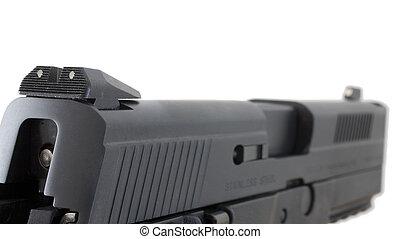 escorregar, handgun
