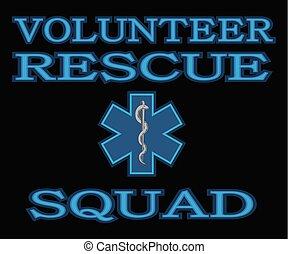 escouade, secours, volontaire