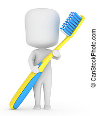 escova de dentes, criança
