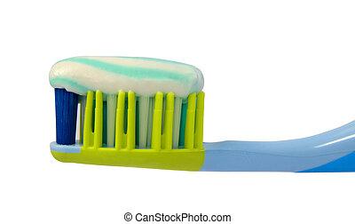 escova de dentes, pasta