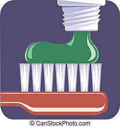 escova de dentes, toothpaste