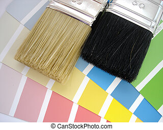 escova, e, cores