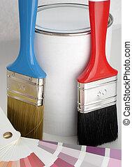 escova, e, pintura