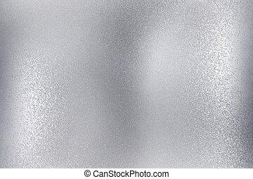 escovado, abstratos, parede metal, textura, fundo, brilhante, prata