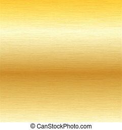 escovado, ouro, superfície