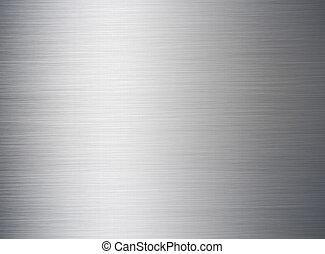 escovado, prata, fundo, metálico