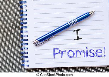 escreva, caderno, promessa