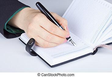 escreve, diário