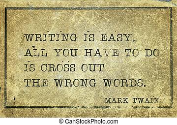 escribir, mtwain, fácil