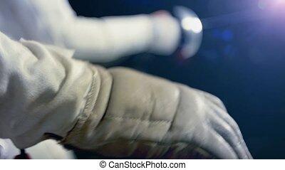 escrime, salle, girl, epee, met, escrimeur, sport, gant