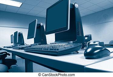 escritório, computadores