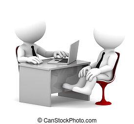 escritório, consulta