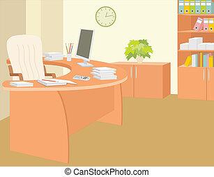 escritório, de, a, director.