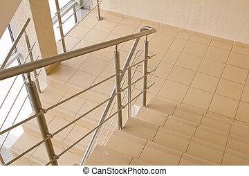 escritório, escadaria