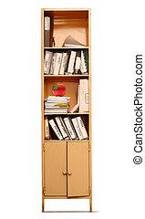 escritório, estante de livros