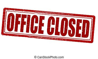 escritório, fechado