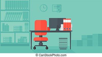 escritório., fundo, negócio
