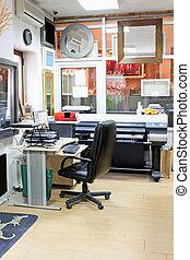 escritório imprimindo