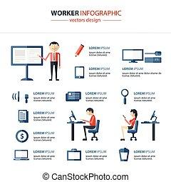 escritório, infographics