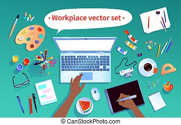 escritório, jogo, local trabalho
