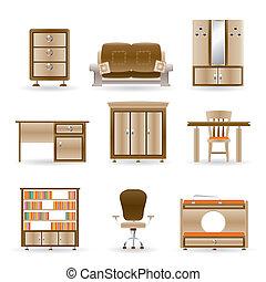 escritório lar, mobília