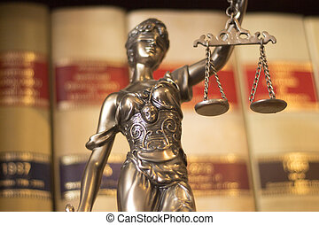 escritório, lei, themis, legal, estátua