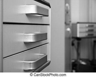 escritório médico, mobília