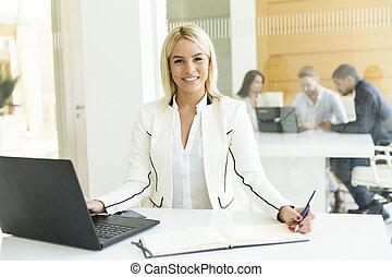 escritório, multiethnic, trabalhe pessoas