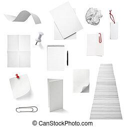 escritório, negócio, caderno, bloco de notas, documento