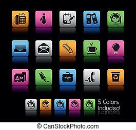 escritório, &, negócio, /, colorbox
