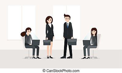 escritório negócio, pessoas
