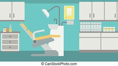 escritório., odontólogo, fundo